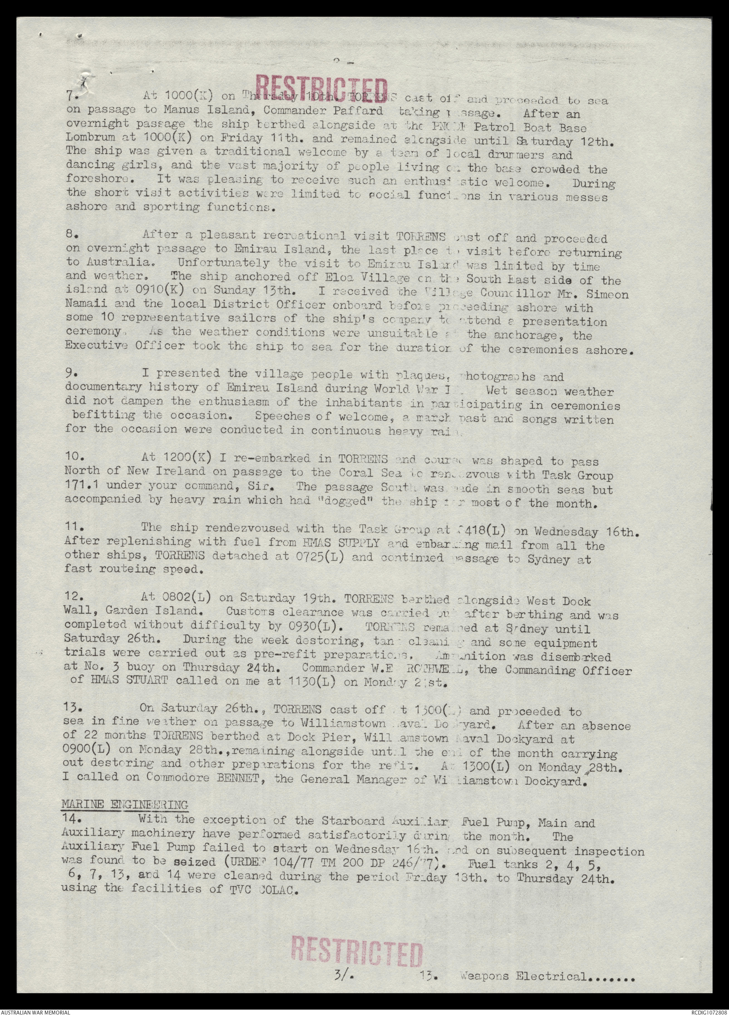 AWM78 347/6 - January-December 1977 | The Australian War Memorial
