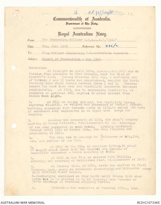 AWM78 212/1 - July 1946 - January 1948 | The Australian War