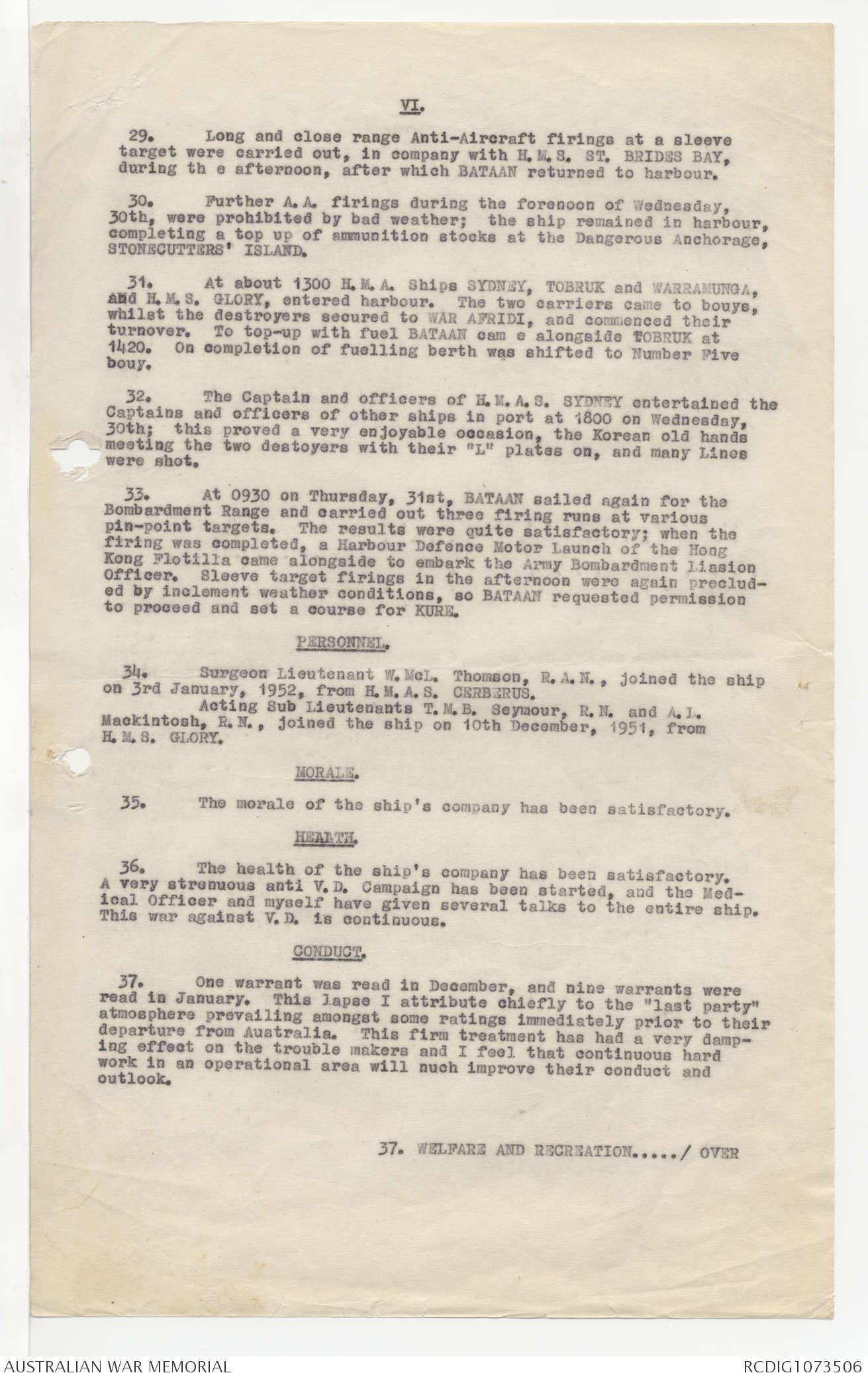 AWM78 58/3 - January 1950 - January 1952  | The Australian
