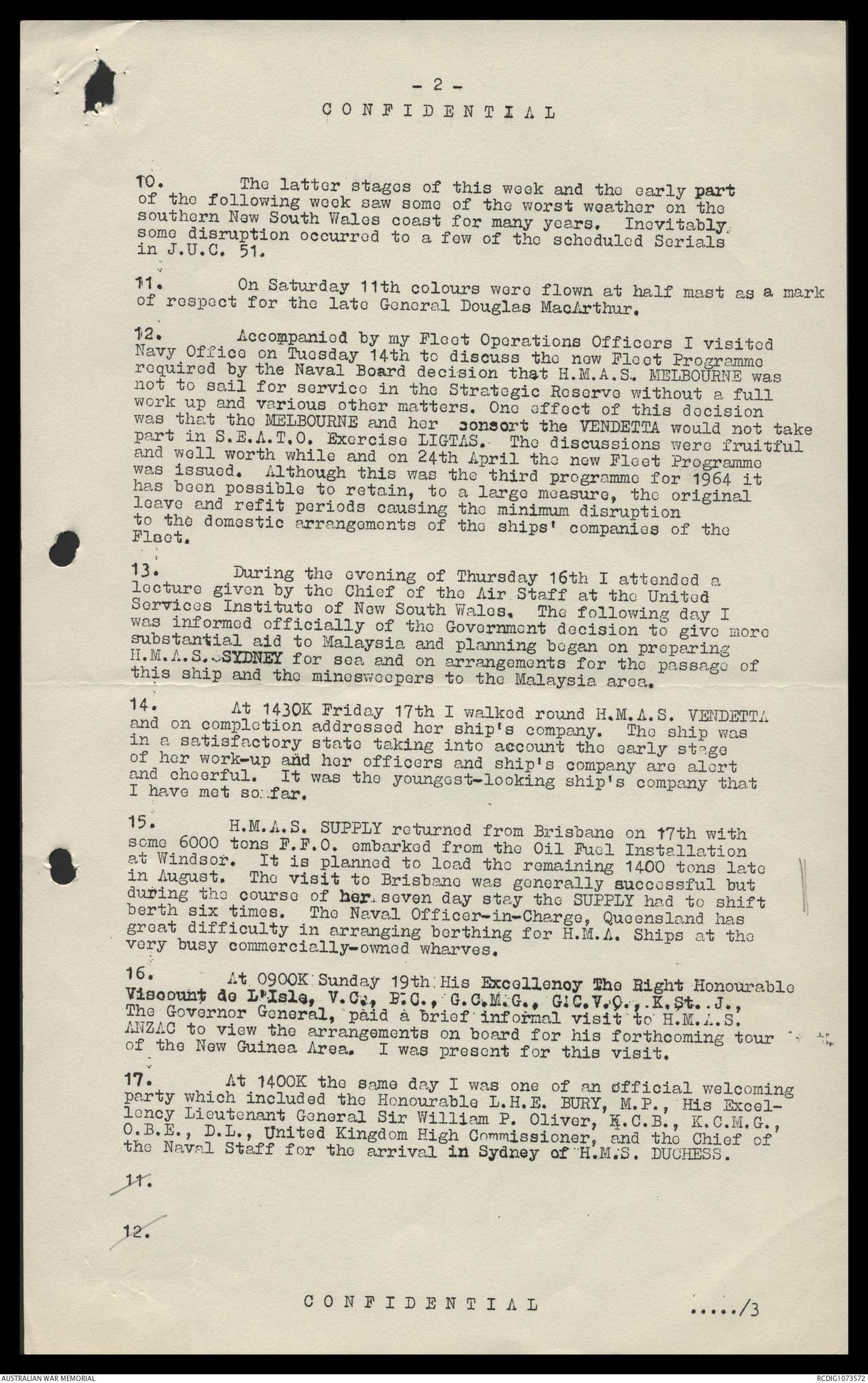 AWM78 394/10 - January-December 1964 | The Australian War