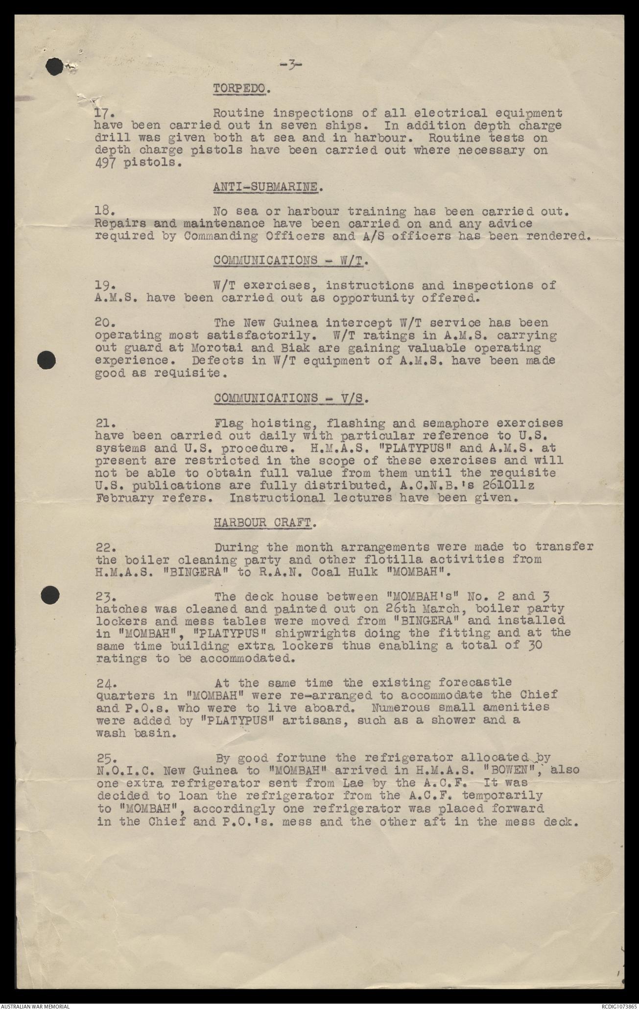 AWM78 425/1 - December 1943 - June 1945    The Australian