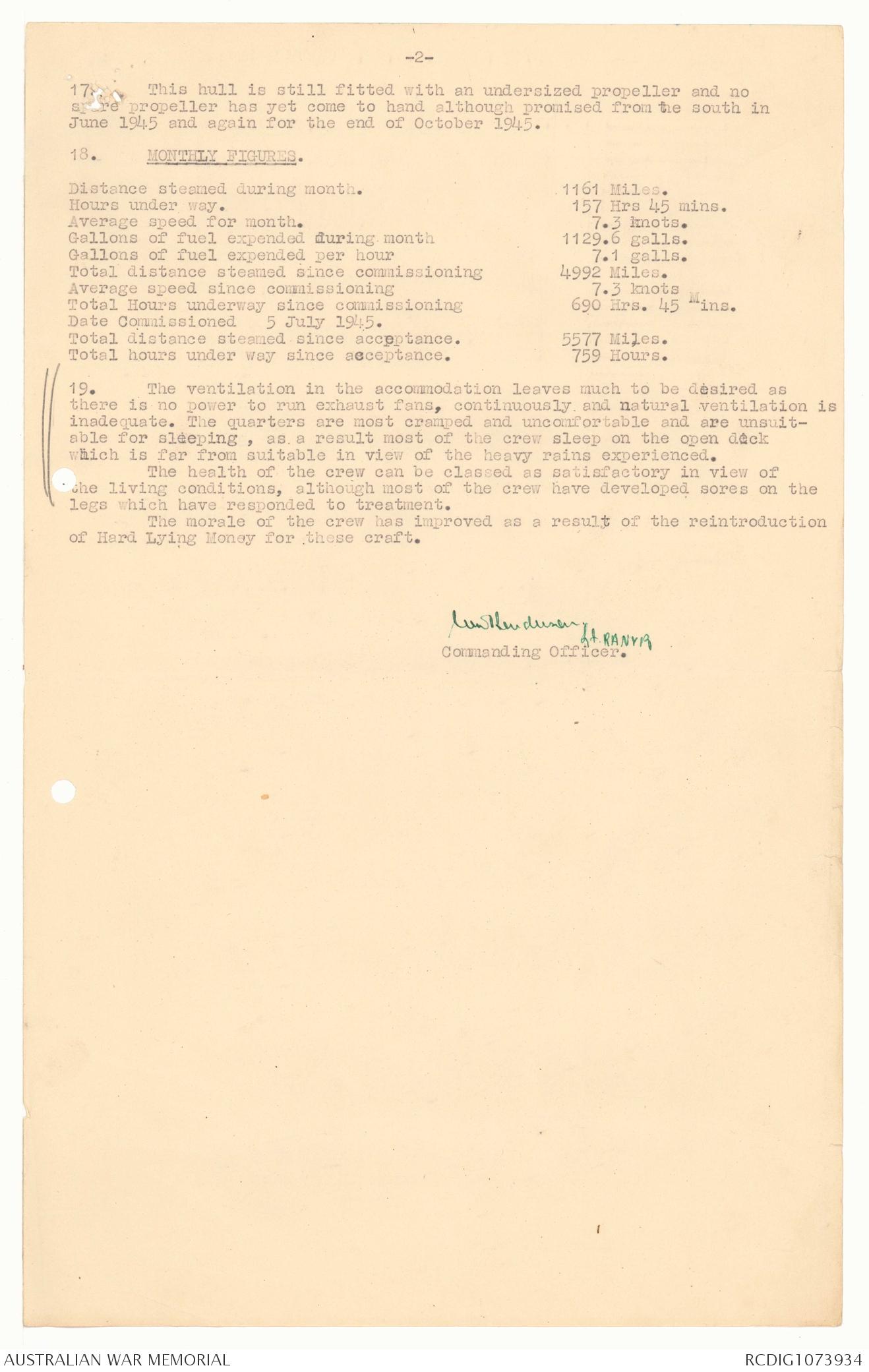 AWM78 268 1 September 1945 February 1946