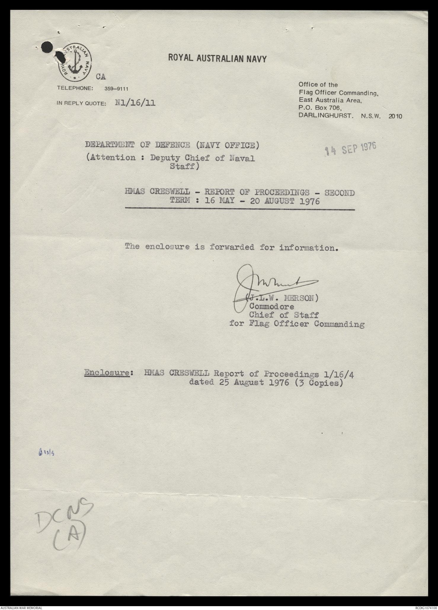 AWM78 433/7 - December 1975 - December 1976   The Australian