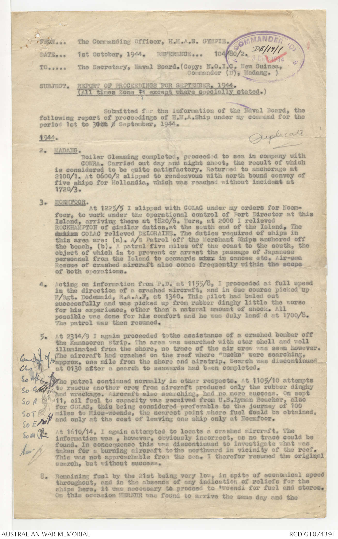 AWM78 127/2 - February 1943 - November 1945  Duplicate | The