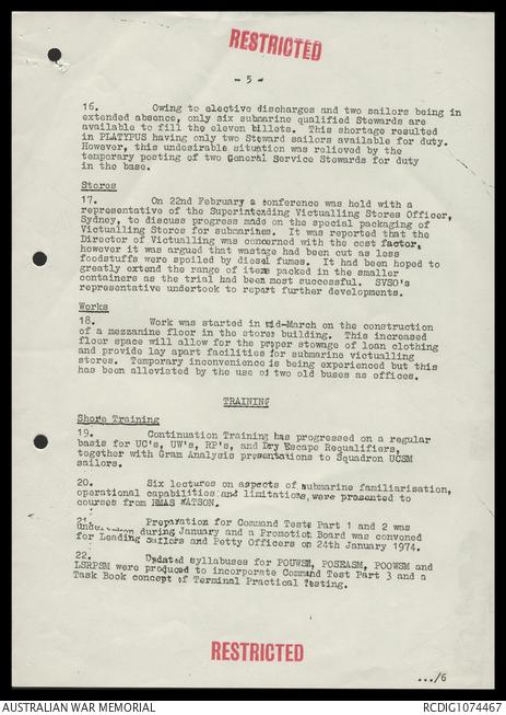 AWM78 441/4 - January-December 1974 | The Australian War