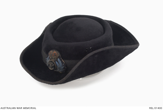 Officer's tricorn hat : Women's Royal Naval Service | The Australian