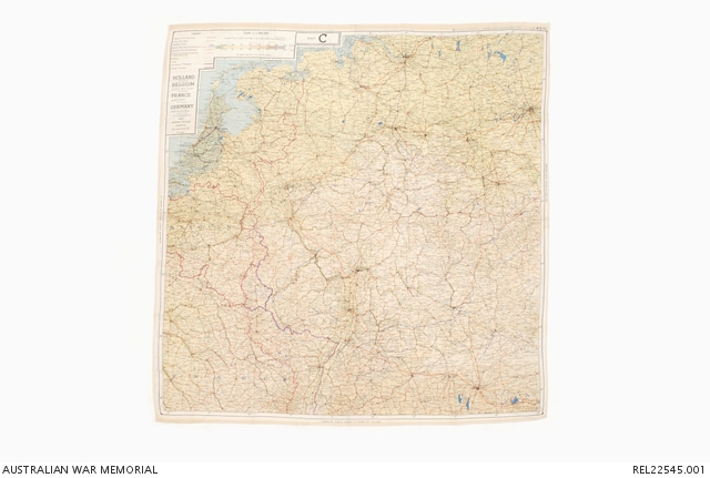Map Of France And Holland Belgium.Mi9 Escape Evasion Map Holland Belgium France Germany 43c And
