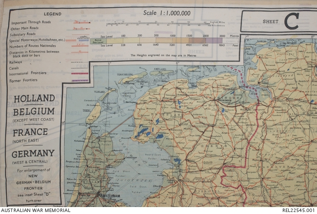 Map Of Germany Coast.Mi9 Escape Evasion Map Holland Belgium France Germany 43c And