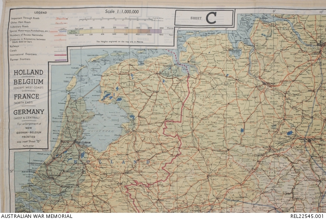 Map Of France Holland And Germany.Mi9 Escape Evasion Map Holland Belgium France Germany 43c And