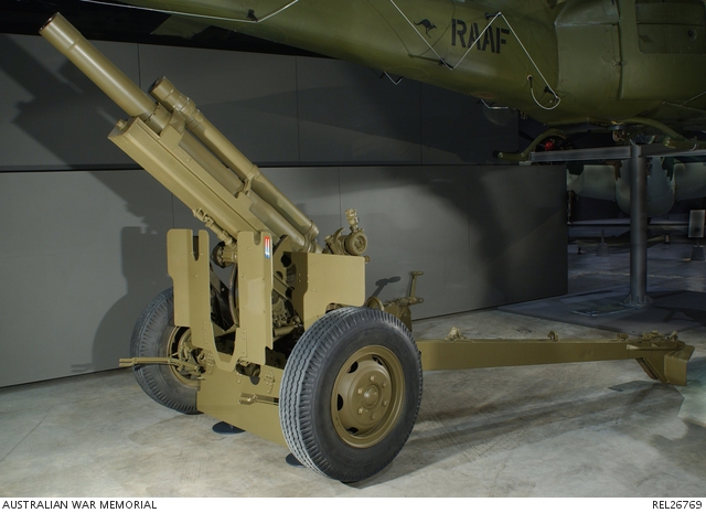 Howitzer on display in the galleries
