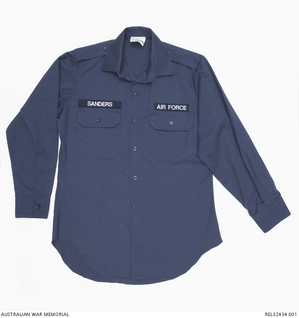 RAAF working shirt : B Sanders, RAAF | The Australian War
