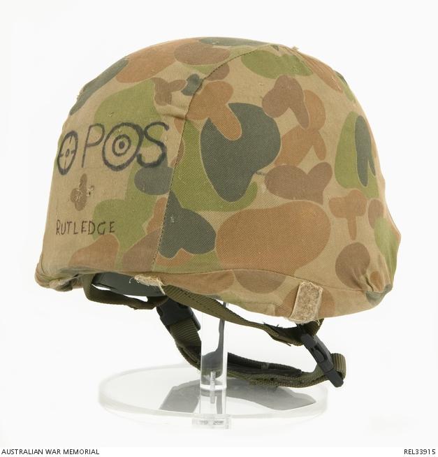95ea102693a PASGT helmet with DPCU cloth cover   Corporal A A Rutledge