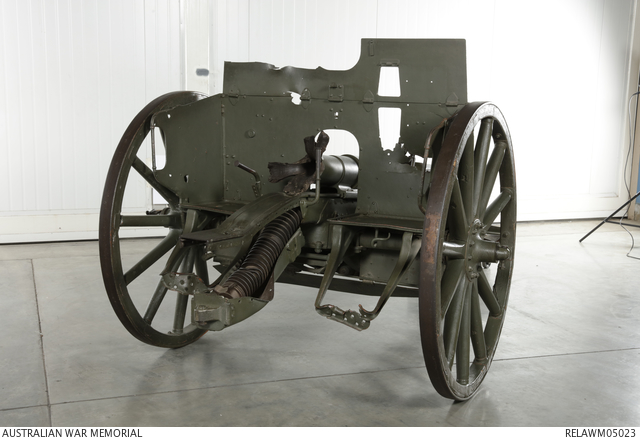 7 7 cm fk 96 n  a field gun   major b a wark  vc  32nd