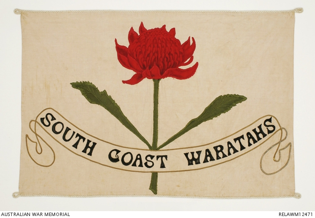 November 1915. Recruiting banner for South Coast Waratahs