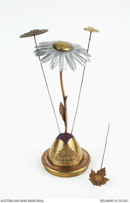 Trench art hat pin stand