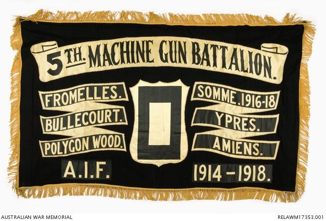 5th Machine Gun Battalion banner