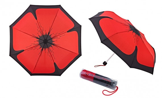 Umbrella: Rembrella poppy - folding