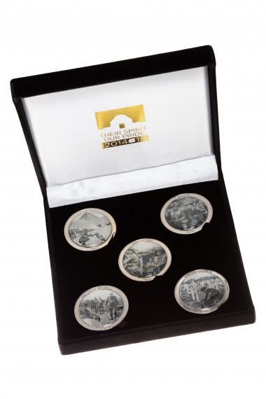 Medallion set: Centenary of Anzac 2014-2018 [set of five]