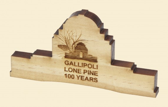 Gallipoli Lone Pine 100 years: Memorial shape magnet