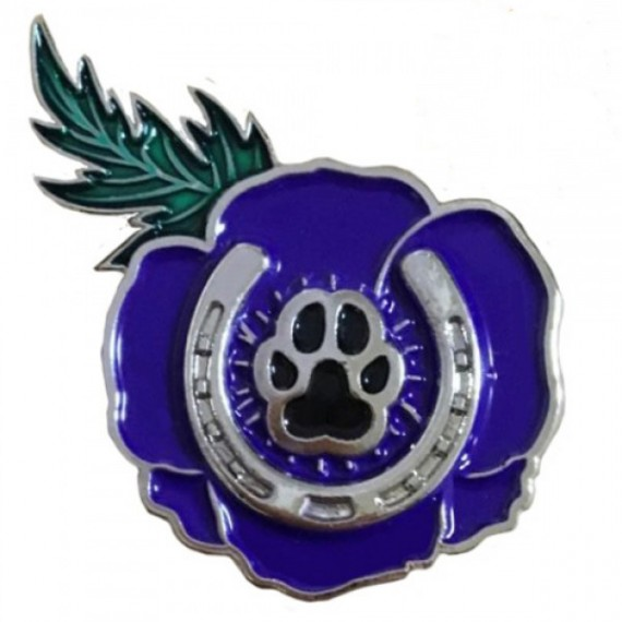 Purple Poppy services pin