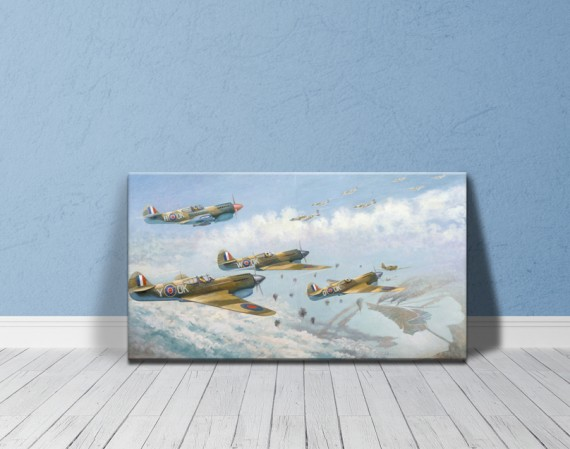 Canvas print: Attack by No 3 and 450 Squadron on Venice (large)