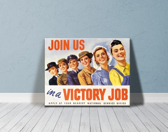 Canvas print: Join us in a victory job