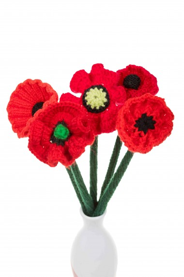 Handcrafted poppy bunch (5 stems)