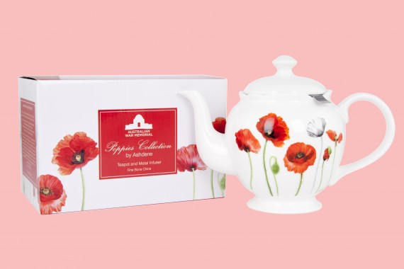 Teapot with infuser: Poppies collection