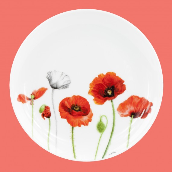 Cocktail plate: Poppies collection