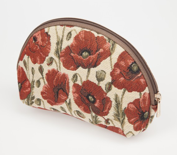 Poppy tapestry: cosmetic bag