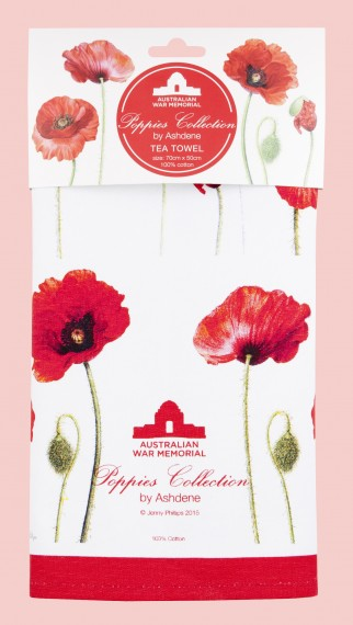 Tea towel: Poppies collection