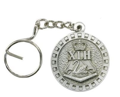 10th Light Horse Regiment pewter keyring