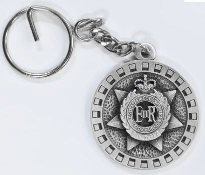 Transport Corps pewter keyring