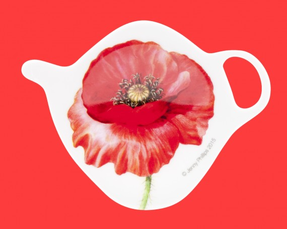 Tea bag holder: Poppies collection