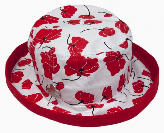 Bucket hat: brushed poppy ladies