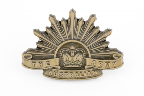 Lapel pin: Australian Army Rising Sun badge