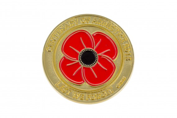 Centenary of Armistice 2018: Poppy medallion