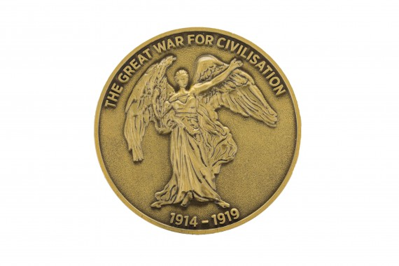 Winged Victory medallion