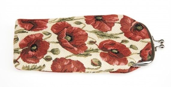 Poppy Tapestry: reading glasses pouch