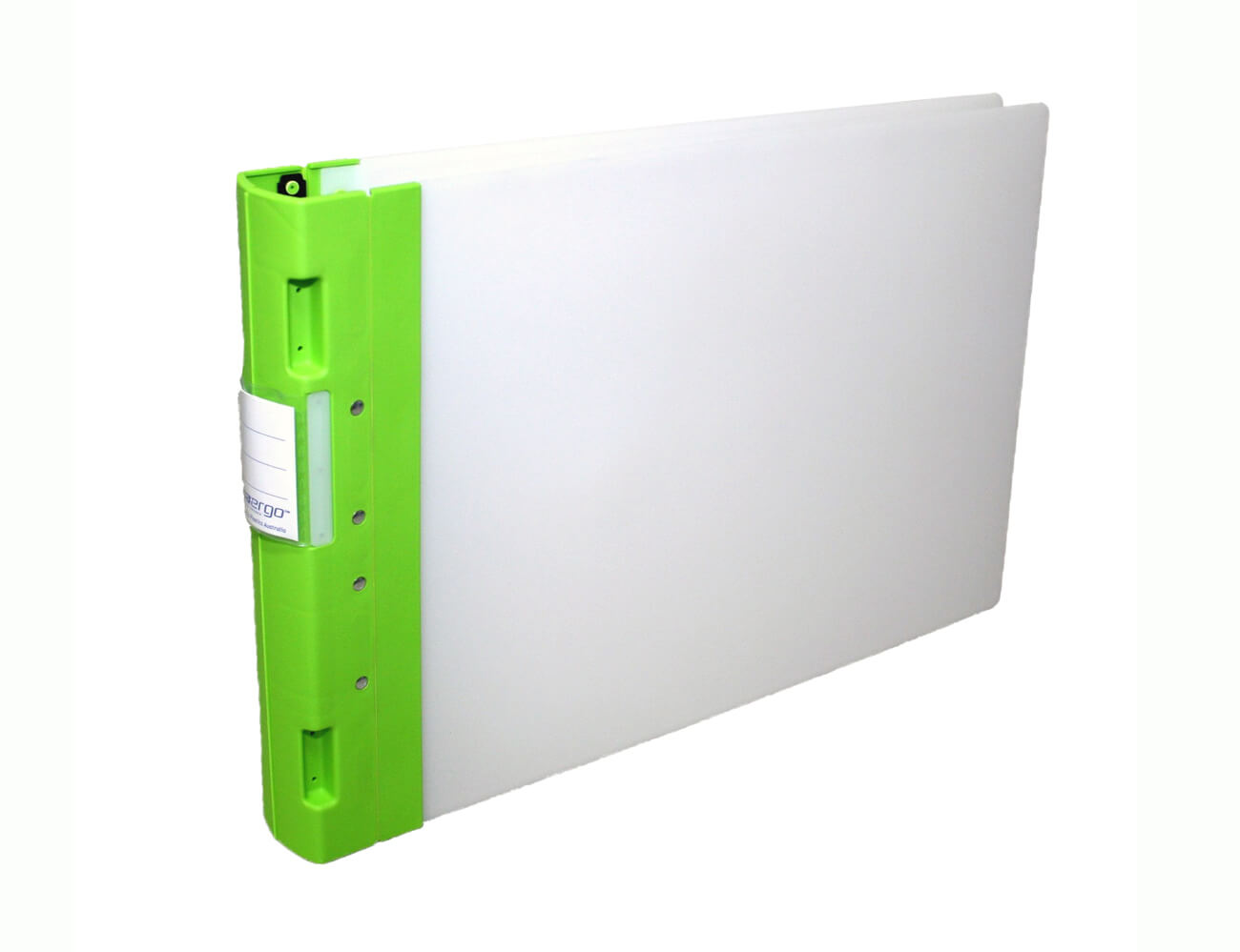 a3 ergo binder 4 ring 50mm capacity neutral cover