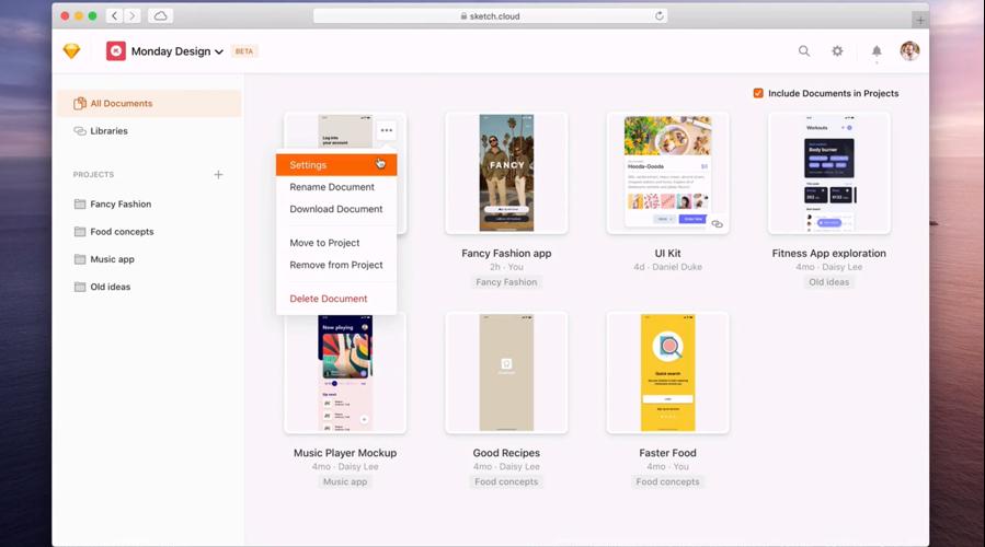 Collaborative design tool Sketch Cloud