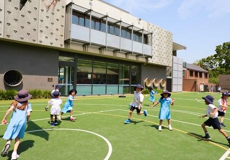 Christchurch Grammar School quad in summer