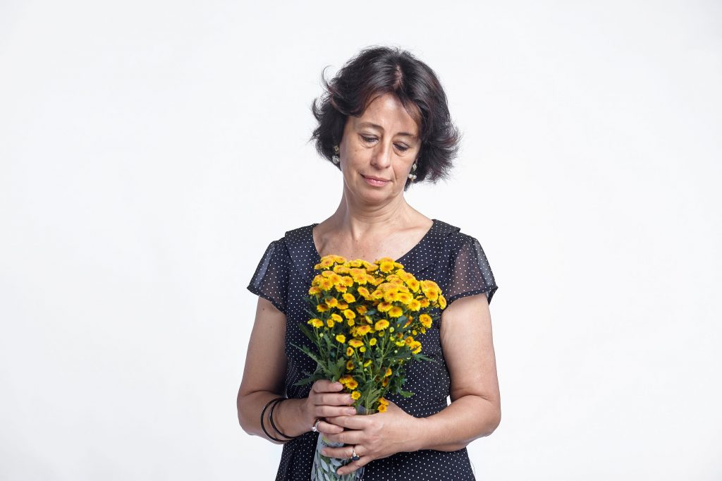 A woman experiencing grief after death