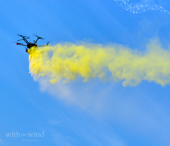 Drone scattering service With The Wind can release ashes above a beach, ocean, or anywhere.