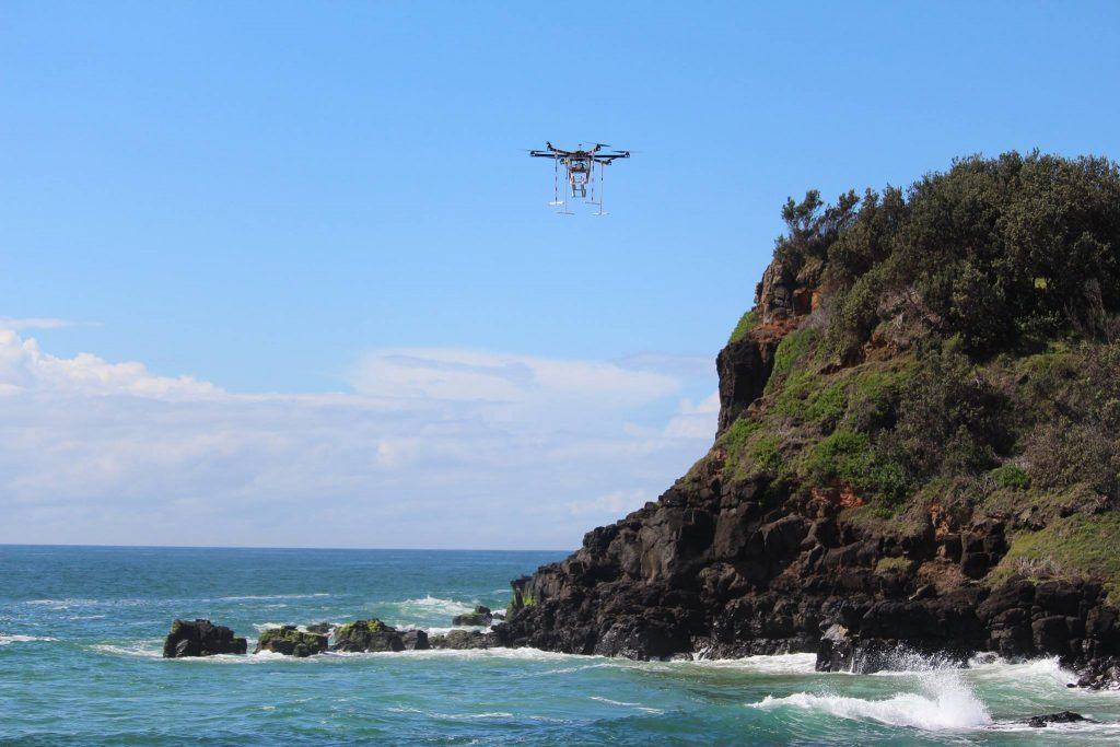 Drone scattering service Blue Horizon Memorials can release your loved one's ashes above a beach, ocean, or anywhere.