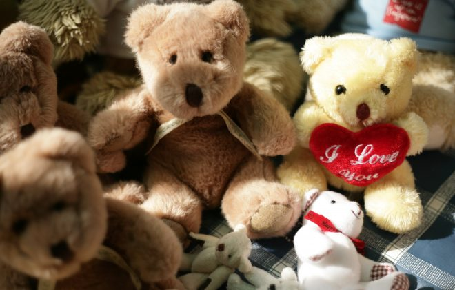 A woman's teddy bear collection was used to personalise her memorial