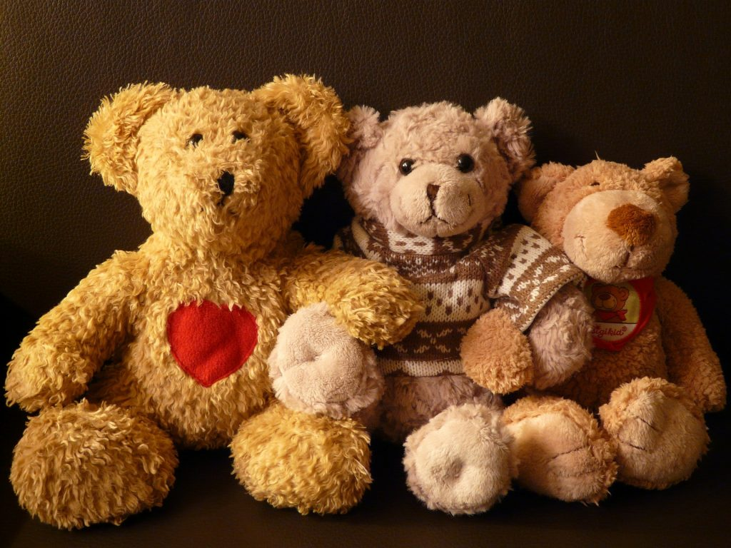 A woman's teddy bear collection was used to personalise her memorial.