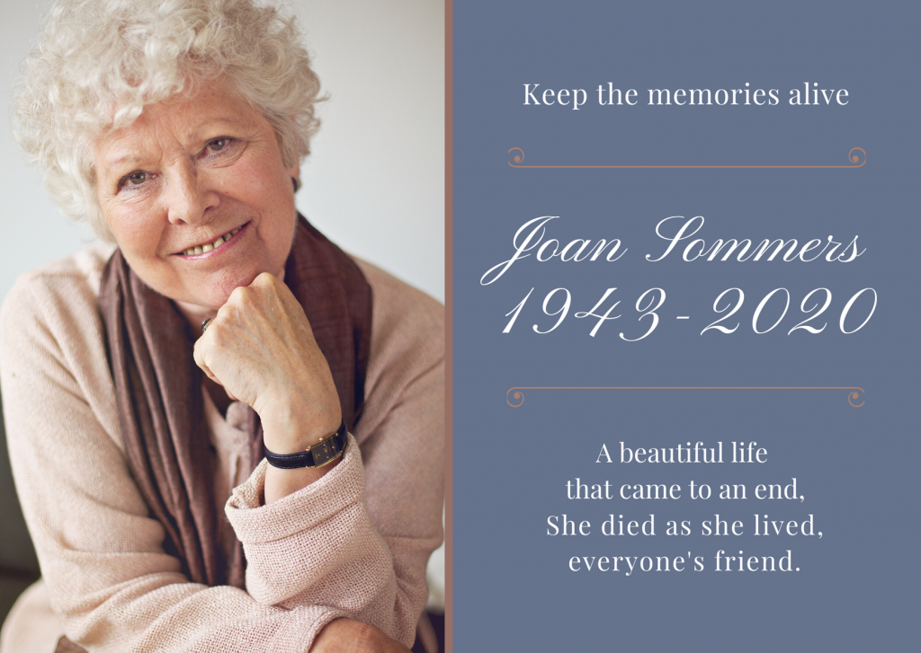 Memorial cards can be keepsakes for mourners to take home.