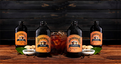 4 bottles of Bundaberg Root Beer with ingredients