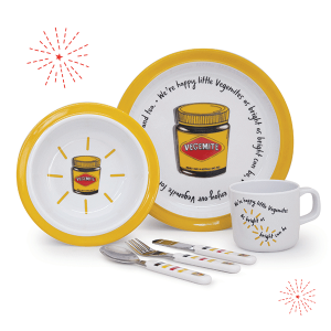 VEGEMITE 6 Piece Kids Dinnerware Gift Set